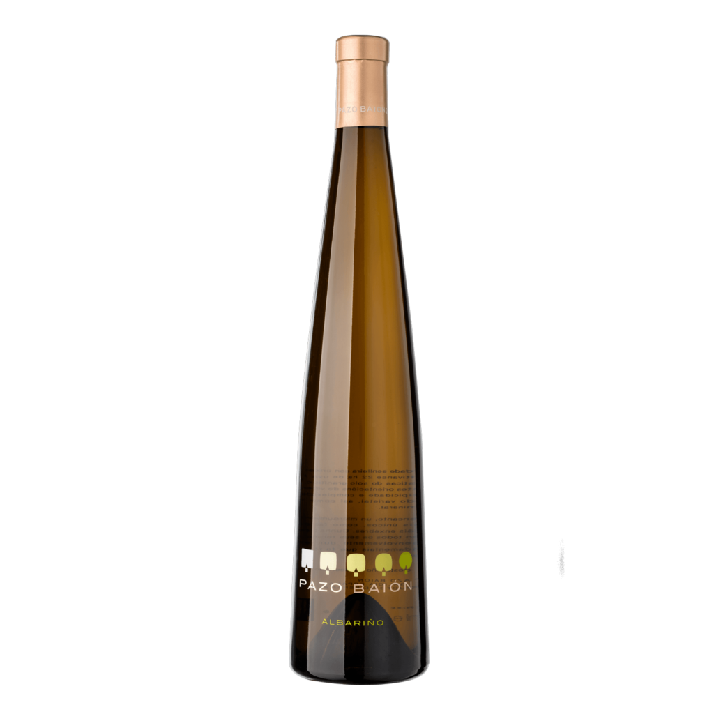 botella de vino albariño pazo baion 2019