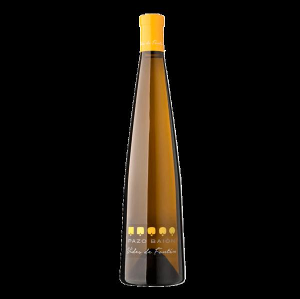botella de vino albariño pazo baion vides de fontan