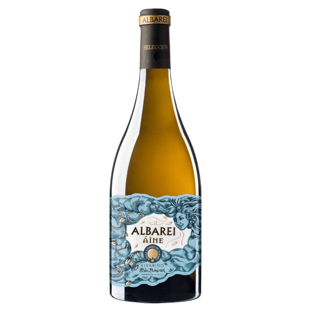 botella de vino albarei áine