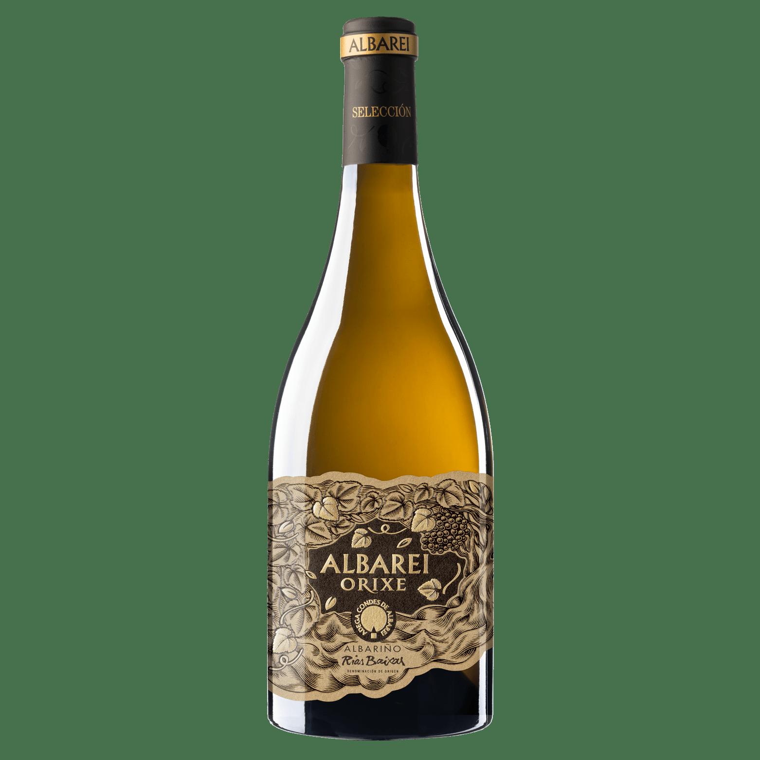 botella vino albariño albarei orixe