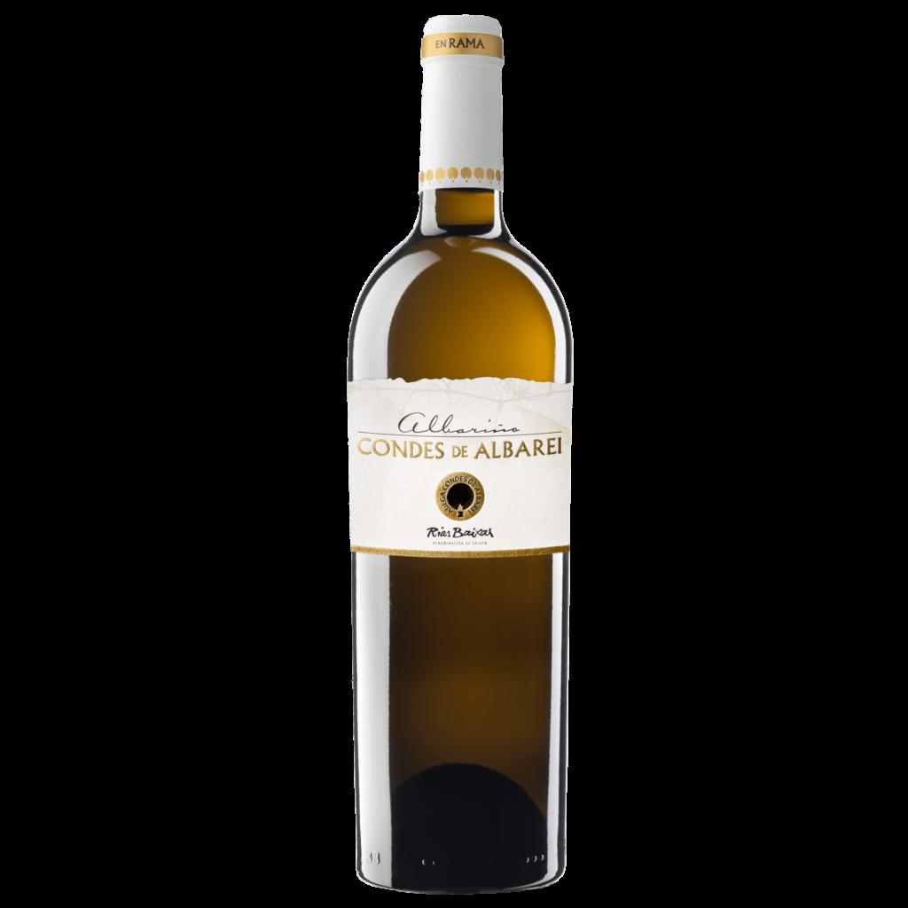 botella de vino albariño condes de albarei en rama