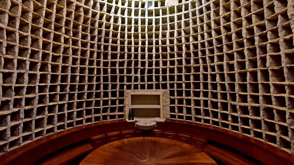 The dovecote has been carefully preserved and restored