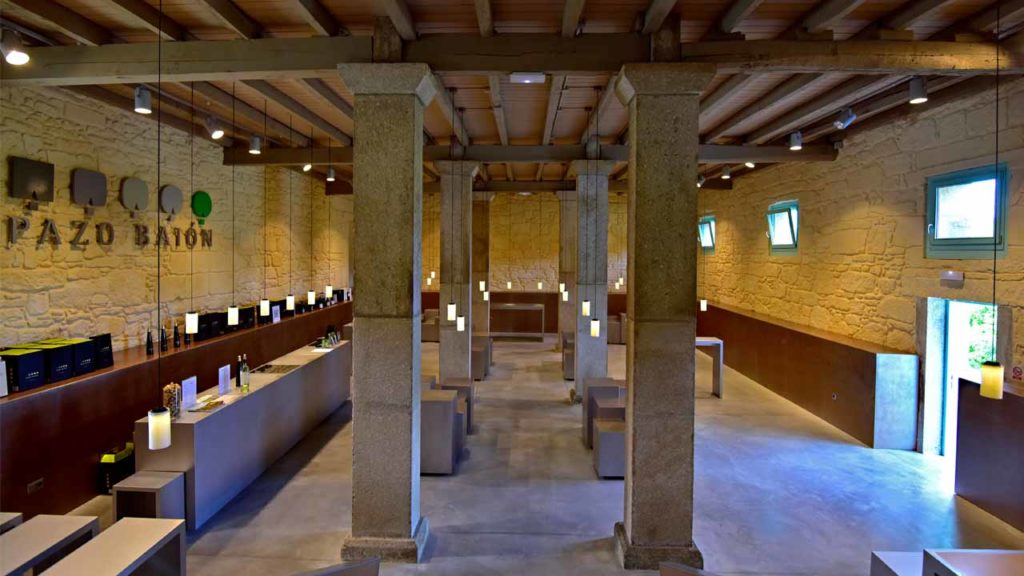 The tasting room is one of the great attractions of the pazo