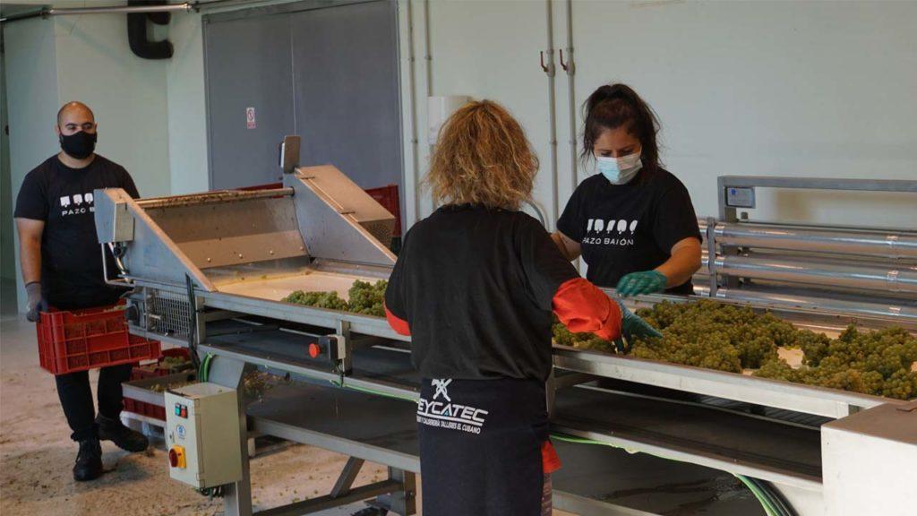 La mesa de selección permite obtener materia prima de primera calidad